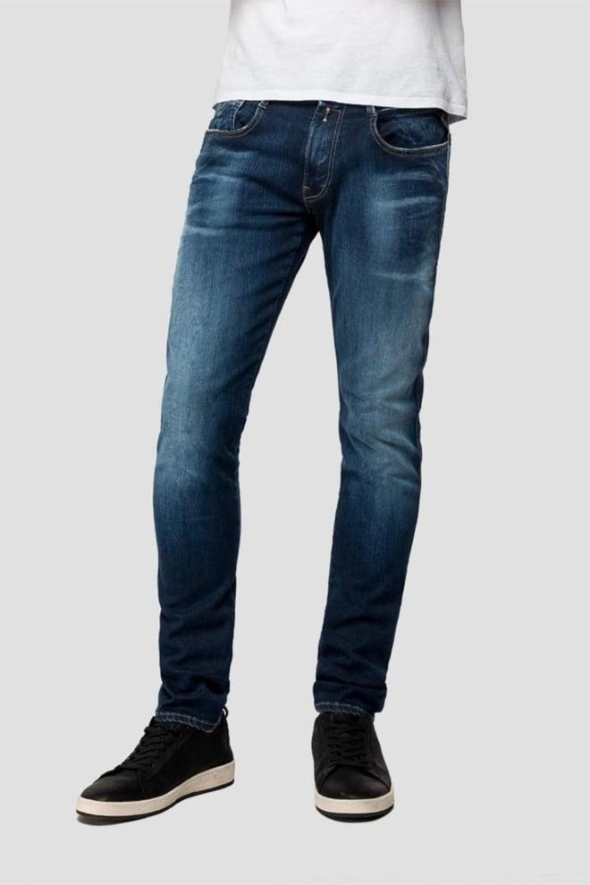 Replay slim fit donkerblauwe jeans - Replay