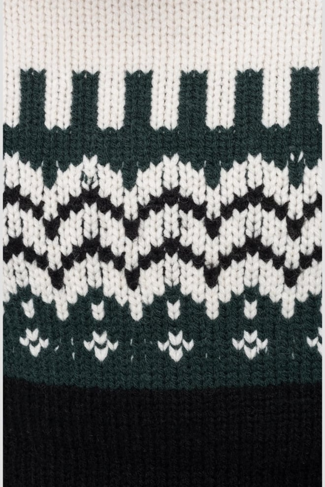 Replay geometric pullover zwart/groen - Replay