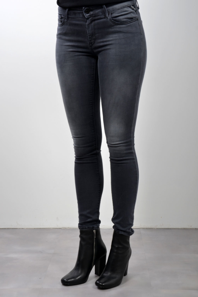 Replay hyperflex jeans donkergrijs - Replay