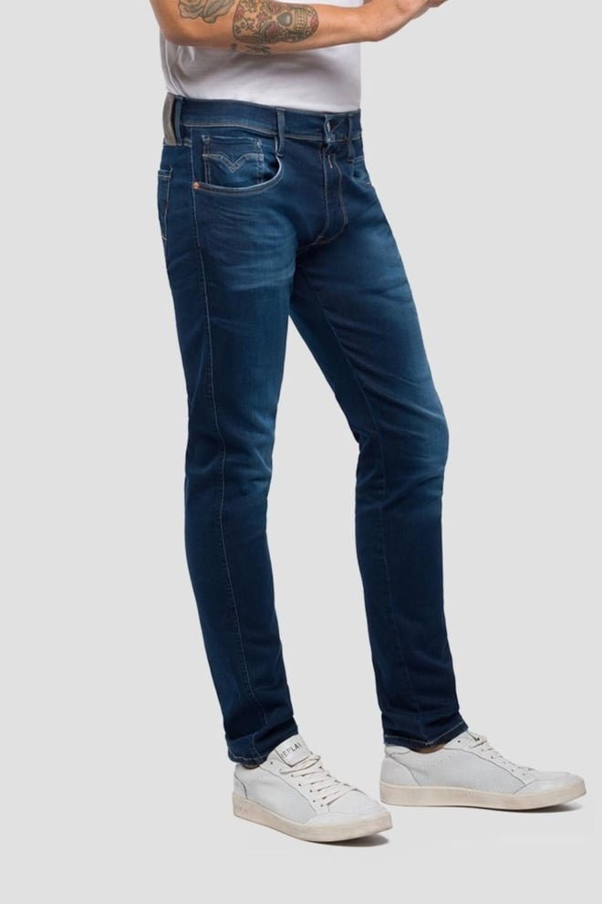 Replay laserblast anbass jeans donkerblauw - Replay