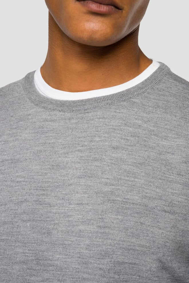 Replay merino wol sweater grijs - Replay