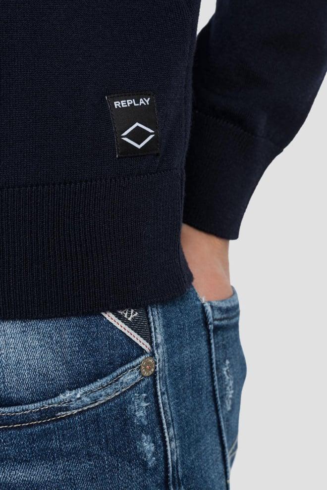 Replay merino wol sweater zwart - Replay