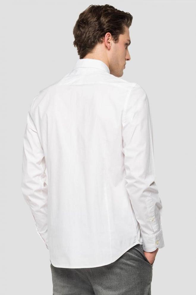 Replay poplin overhemd wit - Replay