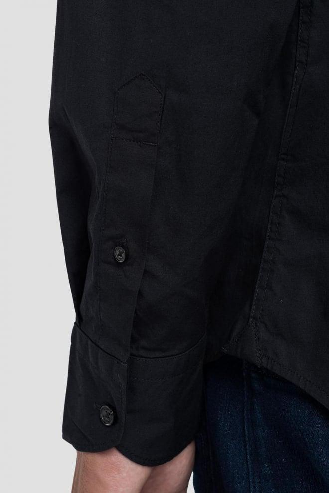 Replay poplin overhemd zwart - Replay