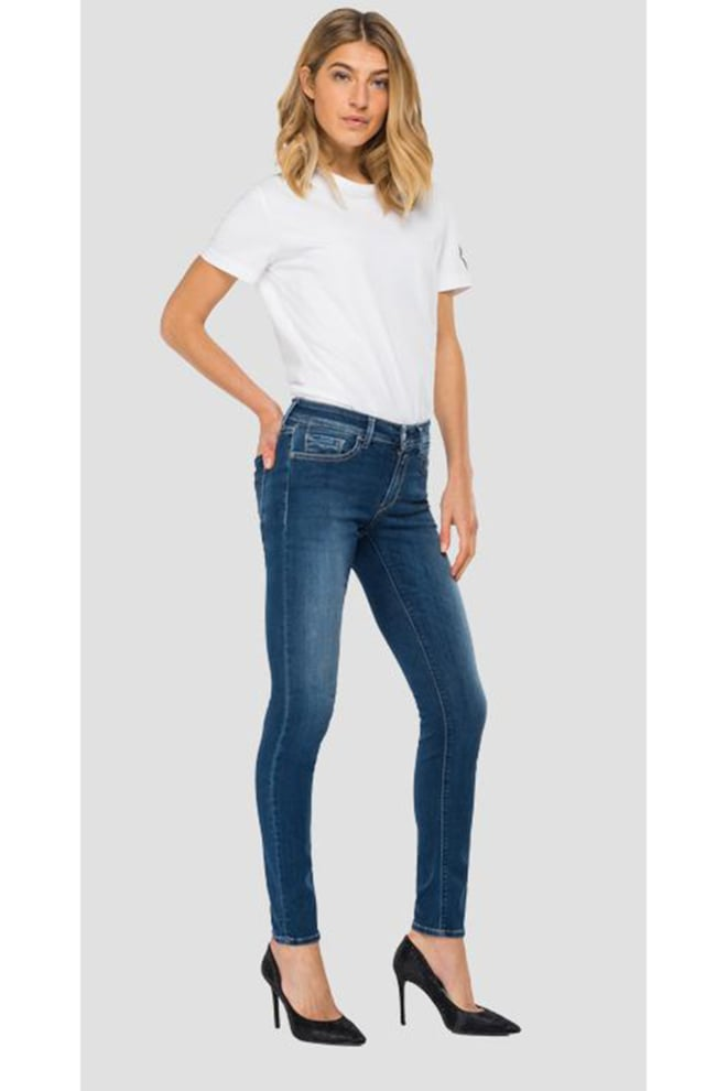 Replay hyperflex re-used jeans blauw - Replay