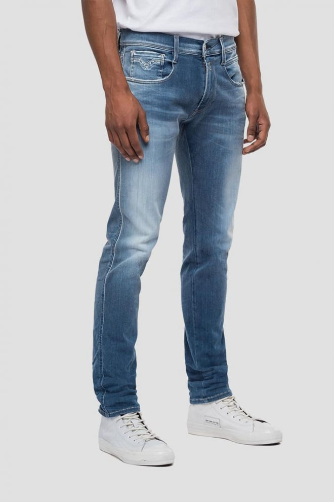 Replay slim fit hyperflex anbass jeans blauw - Replay