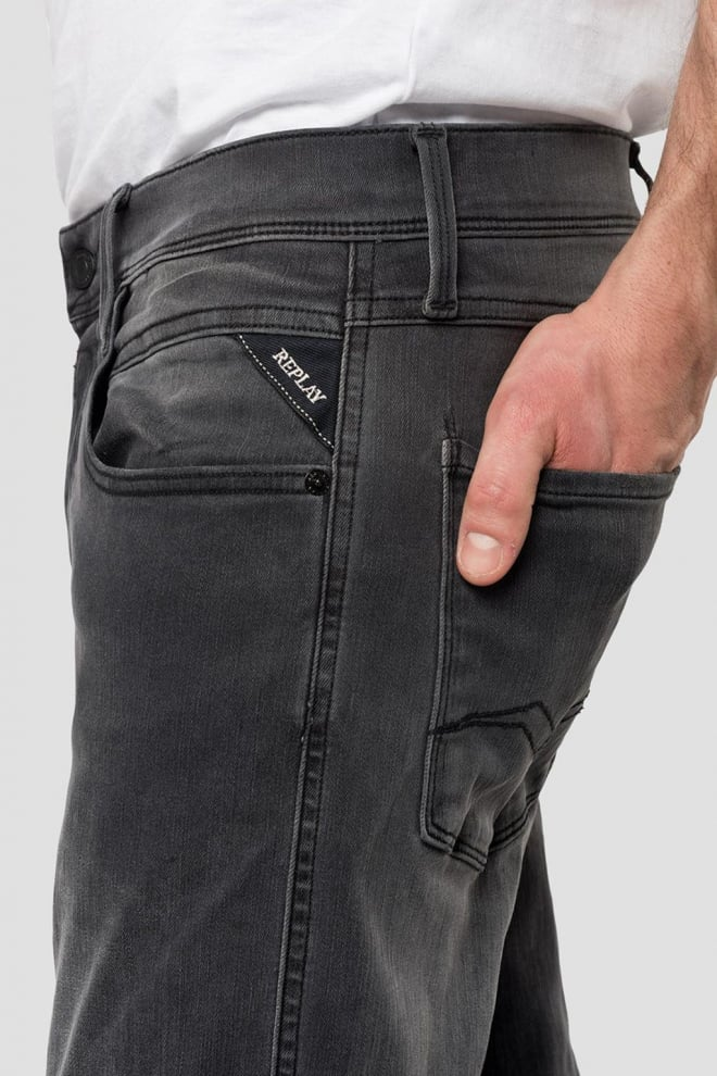 Replay slim fit hyperflex anbass jeans grijs - Replay