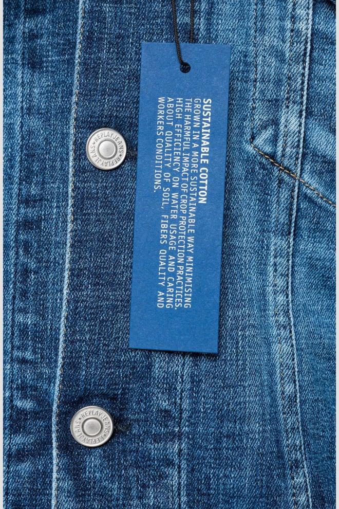 Replay regular fit spijkerjack blauw - Replay