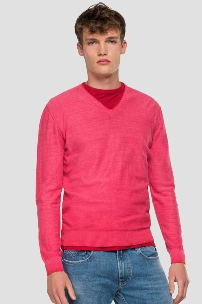 Replay slim fit v-neck sweater - Replay