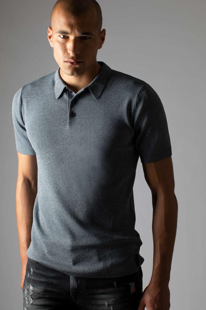 Sustain knit polo grey - Sustain