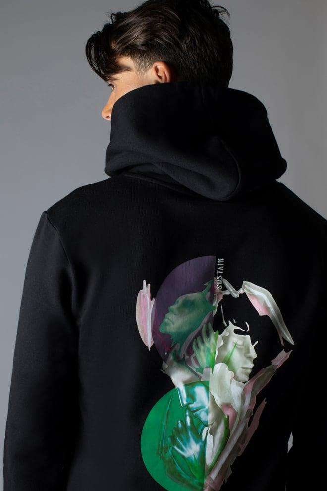 Sustain splash regular hoodie black - Sustain