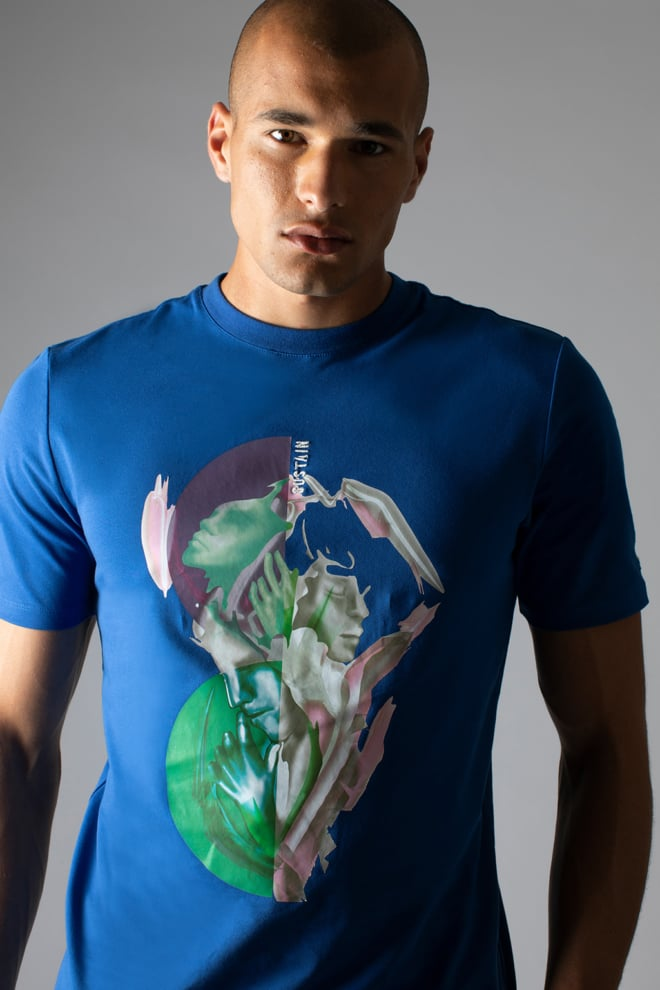 Sustain splash regular t-shirt blue - Sustain
