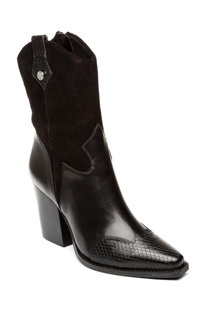 Steve madden ezzy boots zwart leer - Steve Madden