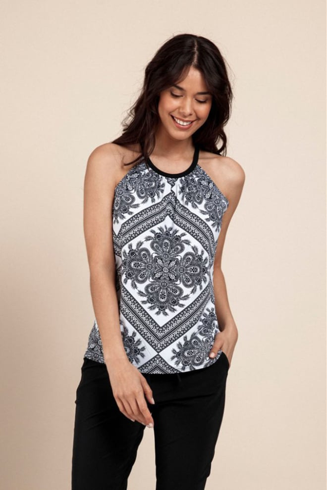 Studio anneloes carly top white black - Studio Anneloes