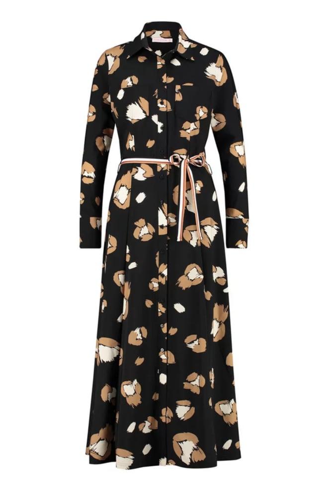 Studio anneloes indy flower dress 3/4 cuff black - Studio Anneloes