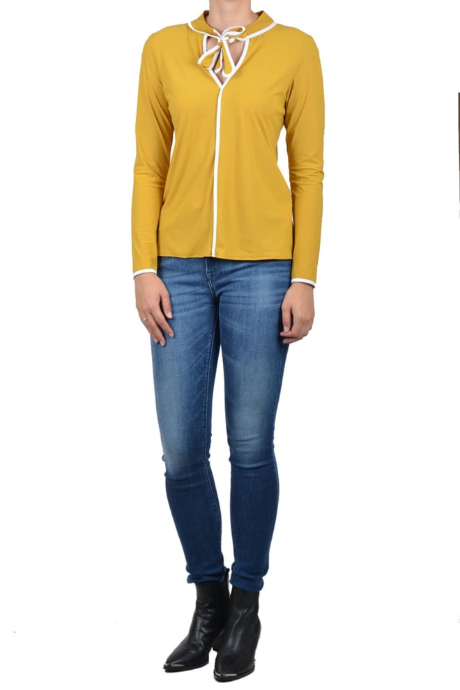 Studio anneloes lilian shirt harvest gold yellow - Studio Anneloes