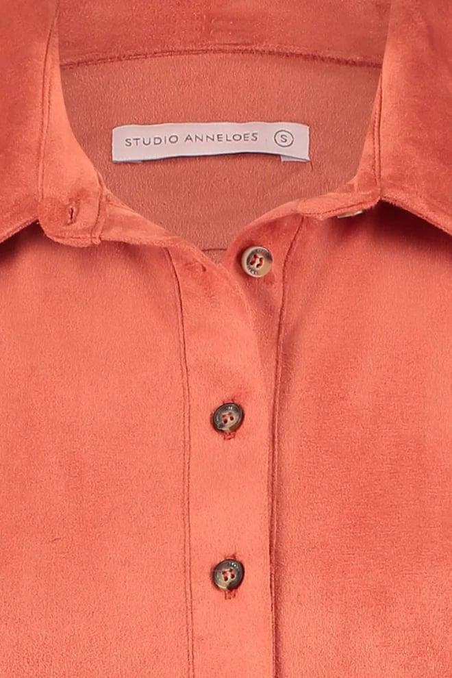 Studio anneloes poppy suede blouse brique - Studio Anneloes