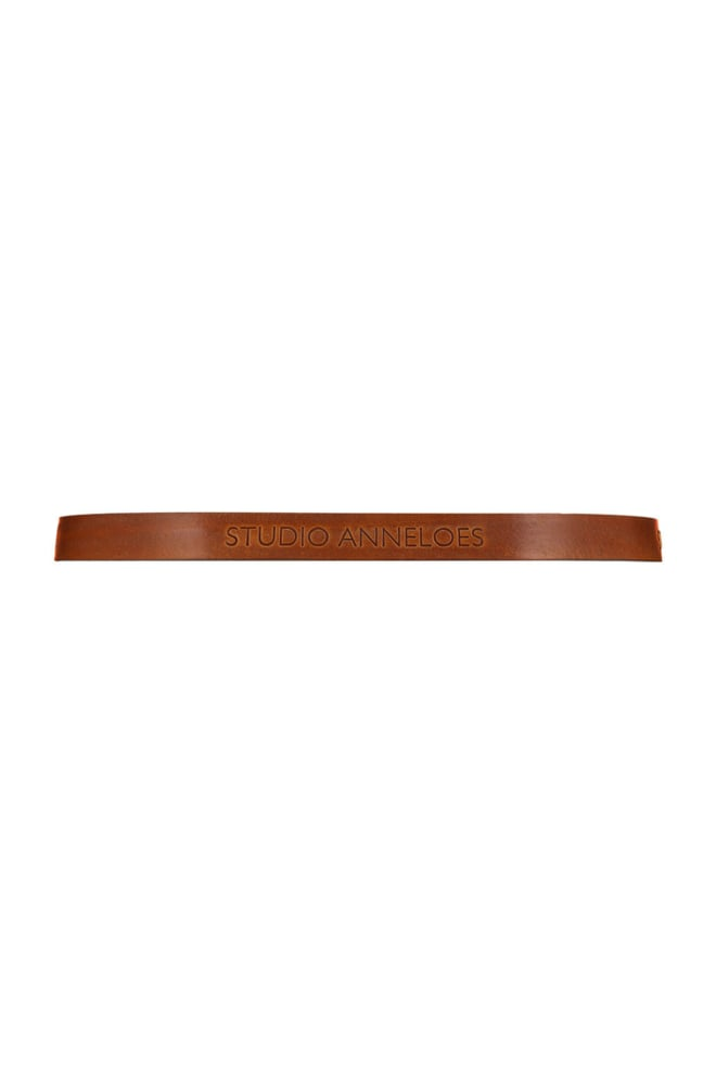 Studio anneloes logo leather gold belt - Studio Anneloes