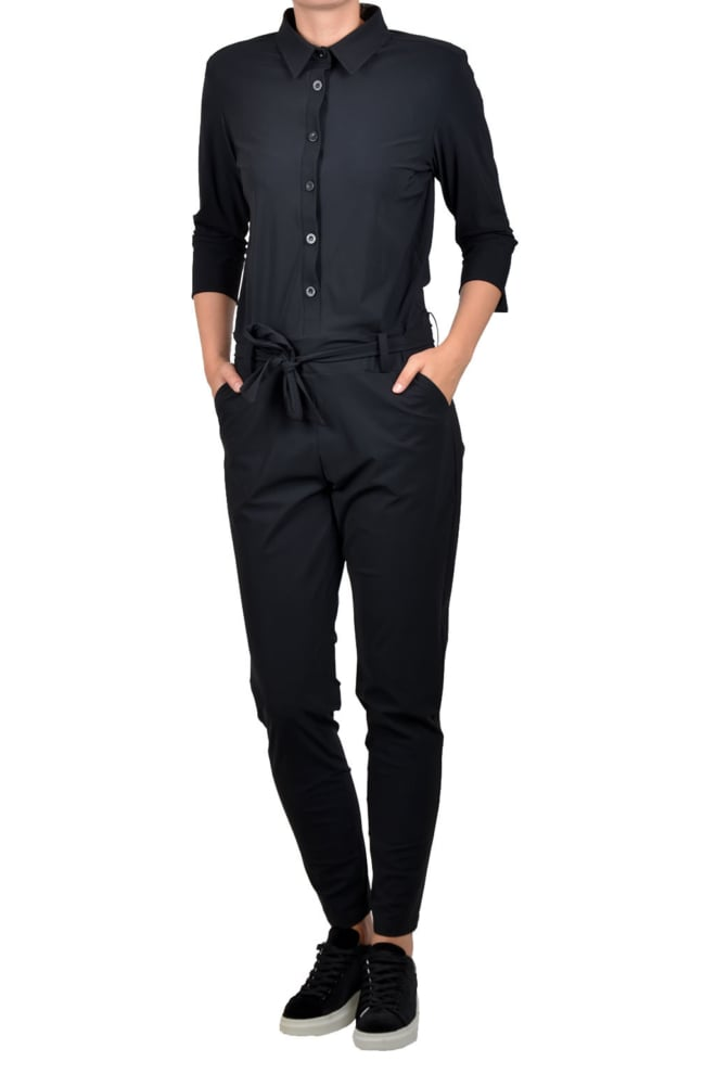 Studio anneloes angelique jumpsuit 3/4 with cuff black - Studio Anneloes