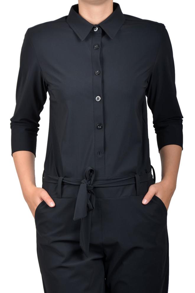 Studio anneloes angelique jumpsuit 3/4 with cuff black - Studio Anneloes