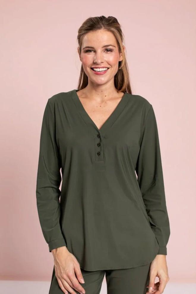 Studio anneloes evi basic blouse groen - Studio Anneloes