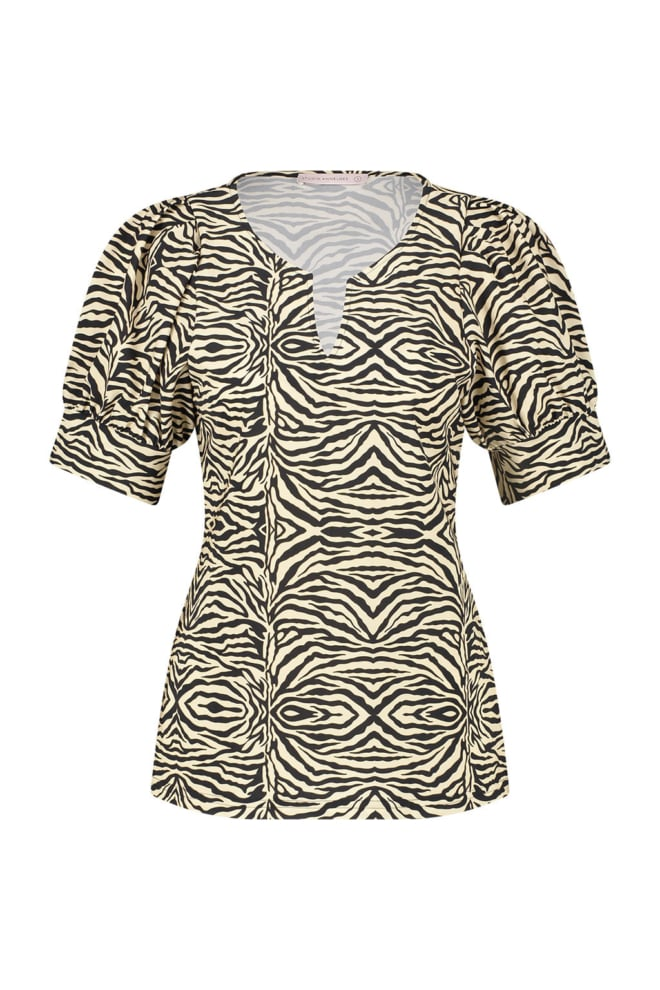 Studio anneloes bo-leo animal blouse sahar black - Studio Anneloes