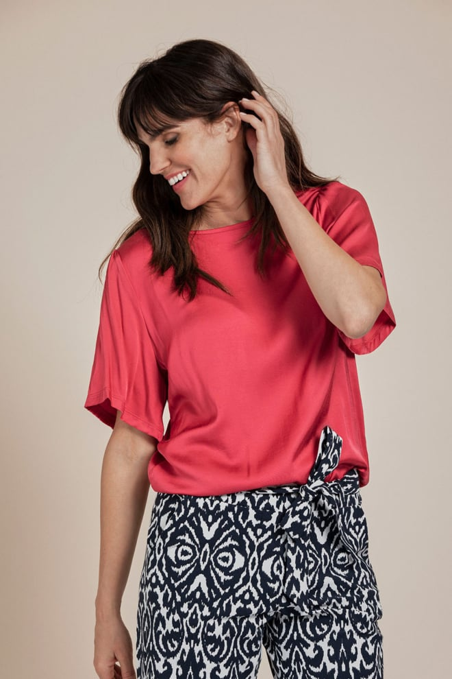 Studio anneloes ella 2way t-shirt roze - Studio Anneloes