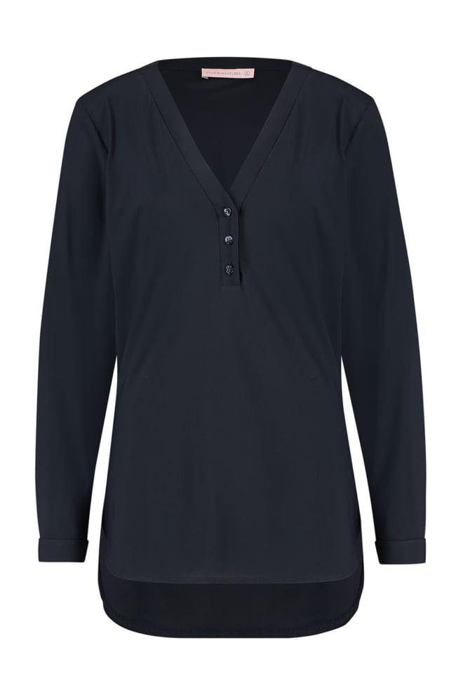 Studio anneloes evi basic blouse donkerblauw - Studio Anneloes