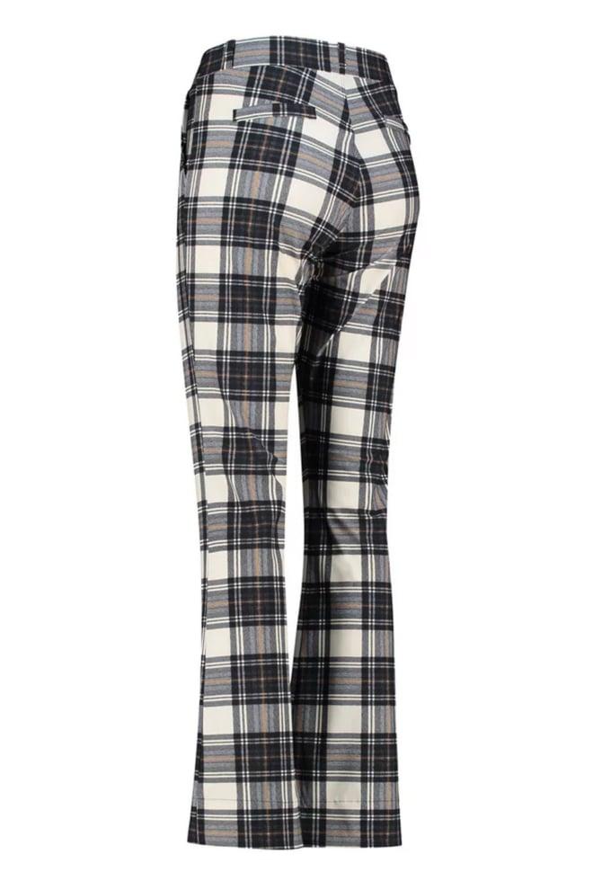Studio anneloes flair plaid trousers zwart/wit - Studio Anneloes