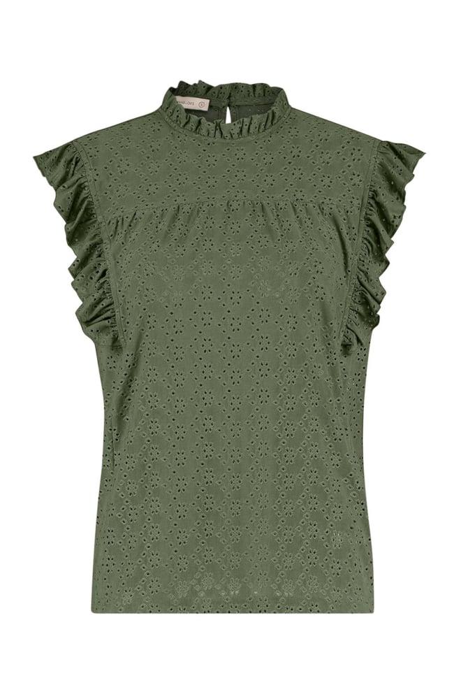 Studio anneloes haylee broderie blouse groen - Studio Anneloes