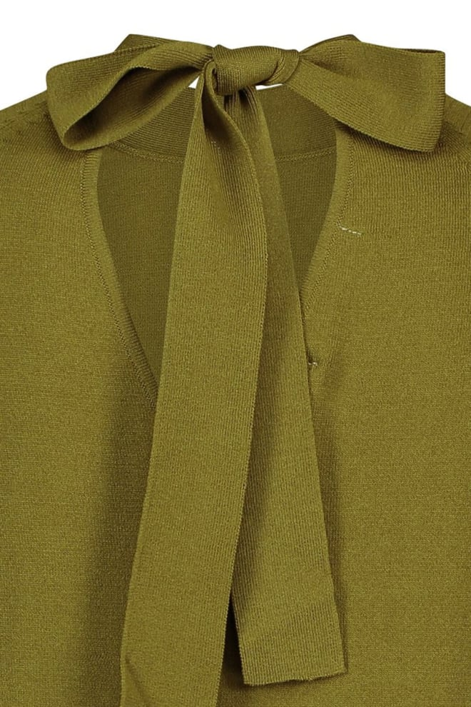 Studio anneloes mirelle bowtie pullover groen - Studio Anneloes