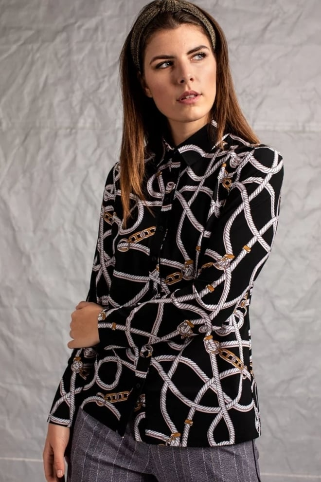 Studio anneloes poppy chain blouse zwart - Studio Anneloes