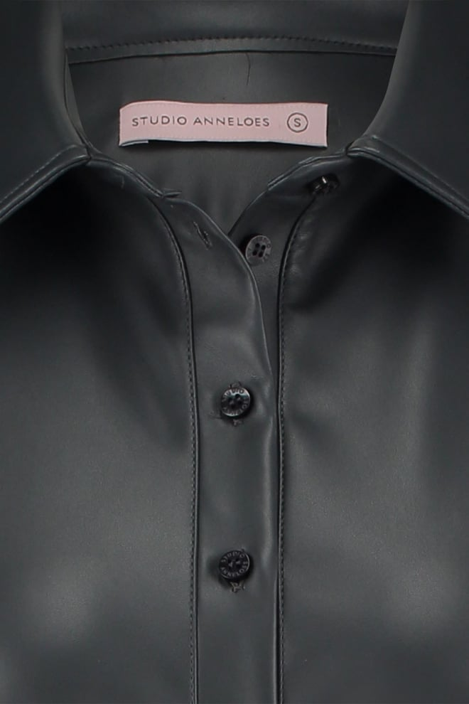 Studio anneloes poppy faux leather shirt - Studio Anneloes