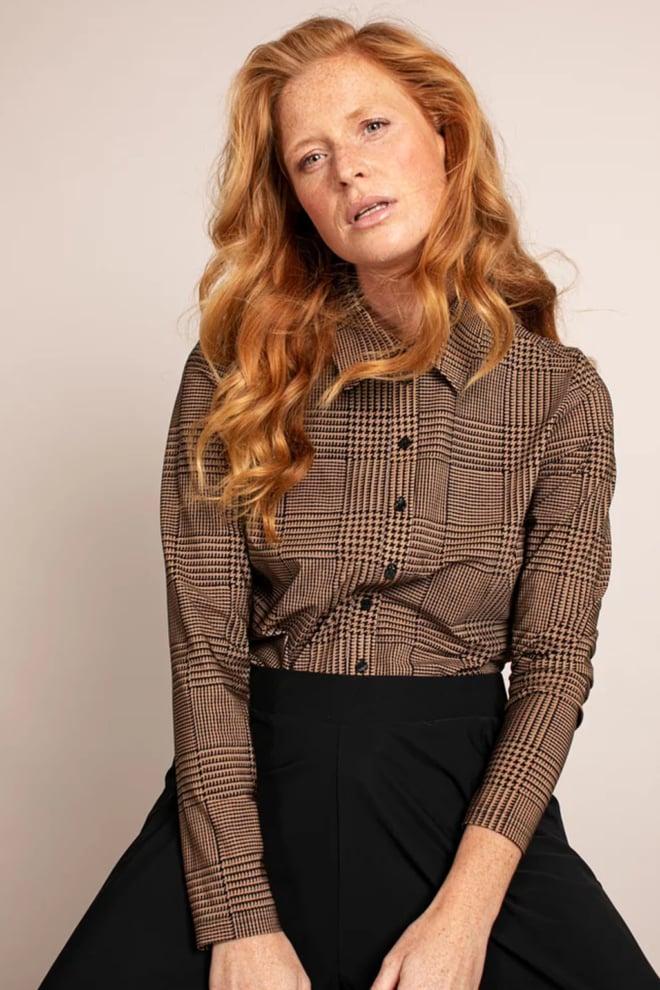 Studio anneloes poppy pdg blouse camel - Studio Anneloes