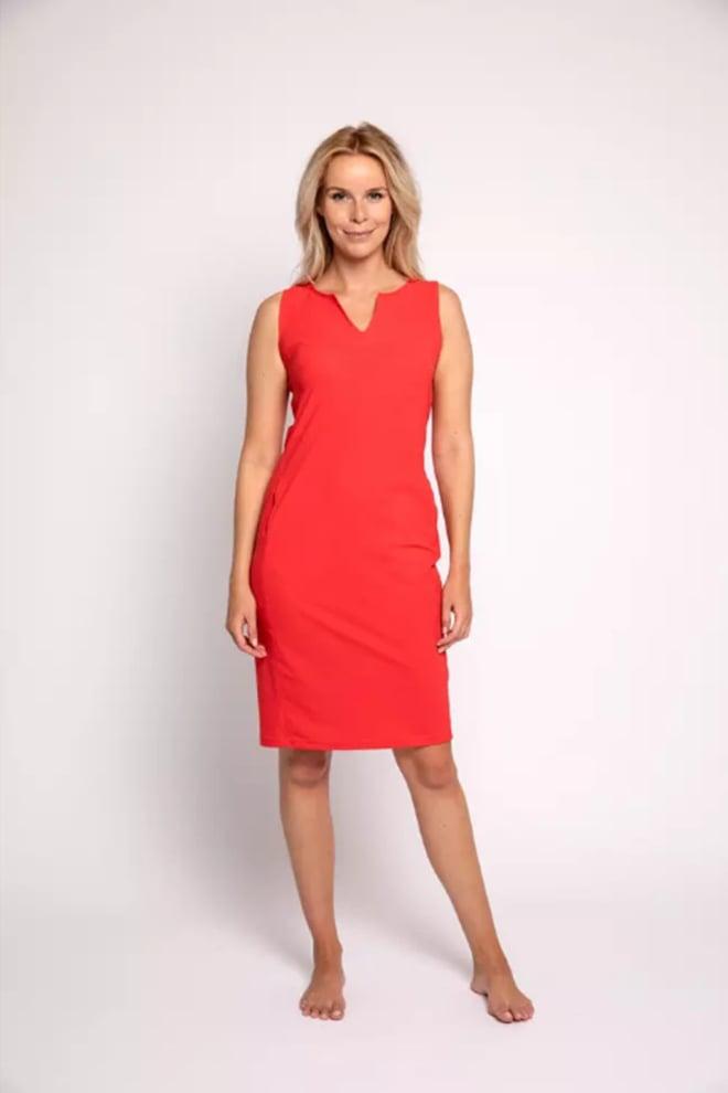 Studio anneloes simplicity sl jurk rood - Studio Anneloes