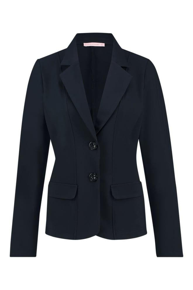 Studio anneloes bright bonded blazer dark blue - Studio Anneloes