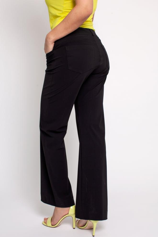Studio anneloes flair long bonded trousers black - Studio Anneloes
