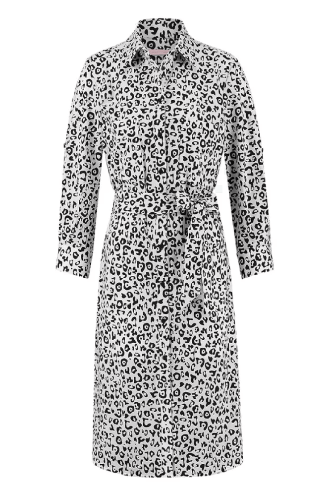 Studio anneloes loopy leopard blousejurk ecru - Studio Anneloes