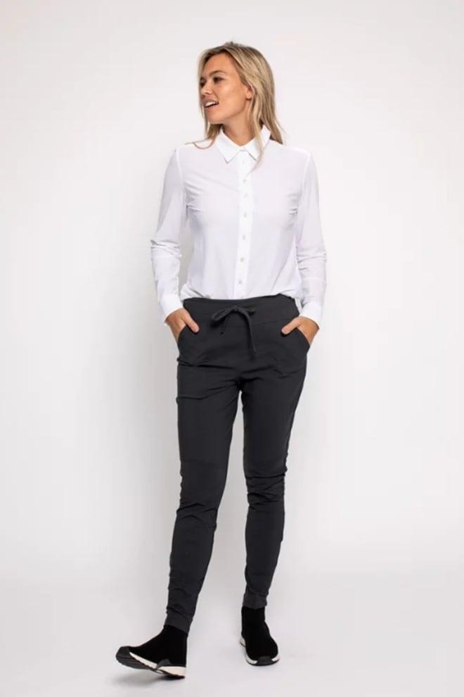 Studio anneloes new franka trouser donkergrijs - Studio Anneloes