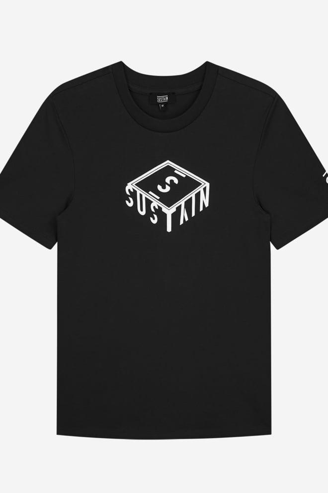 Sustain 3d box logo t-shirt zwart - Sustain