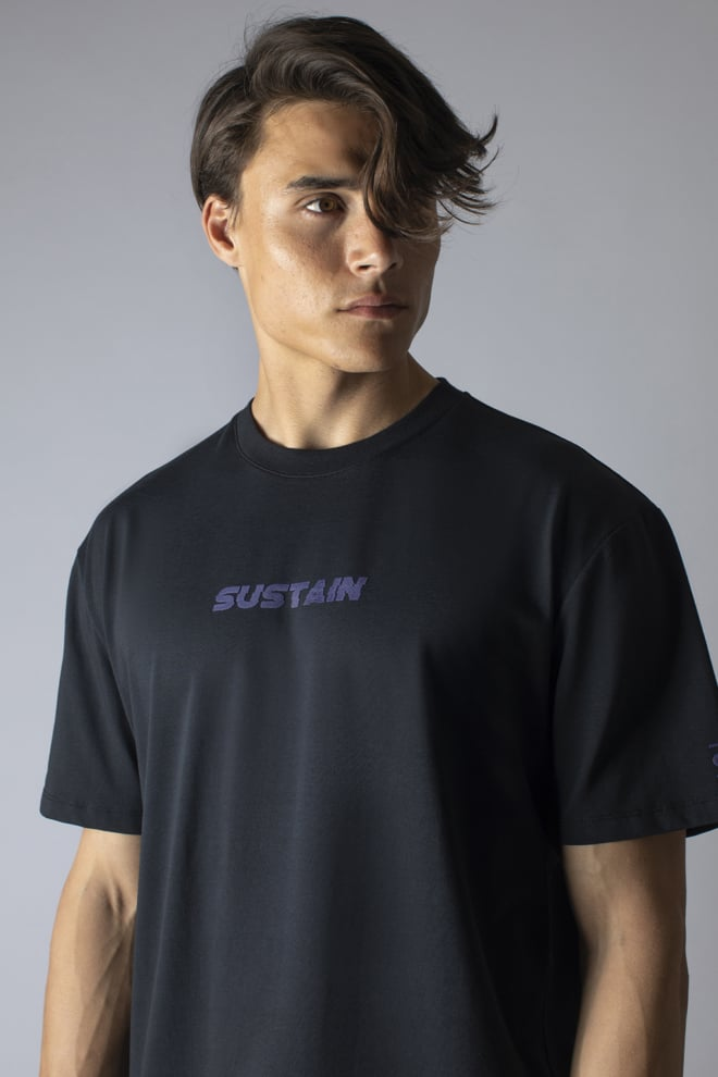 Sustain future revolution boxy t-shirt zwart - Sustain