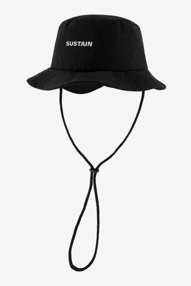 Sustain bucket hat zwart - Sustain