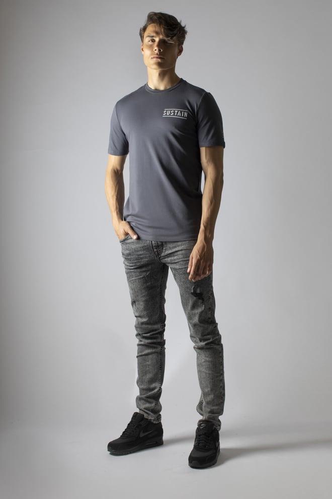 Sustain classic logo t-shirt grijs - Sustain