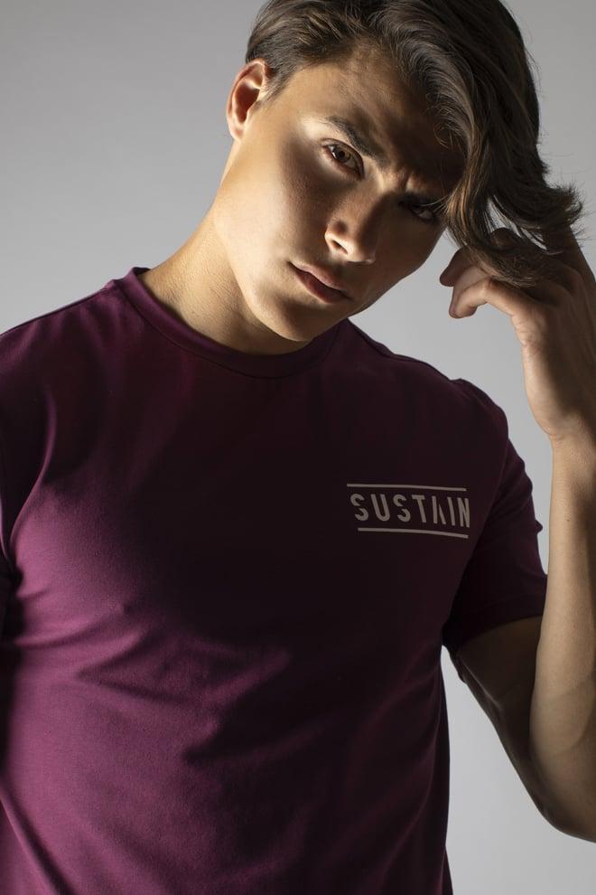 Sustain classic logo t-shirt rood - Sustain