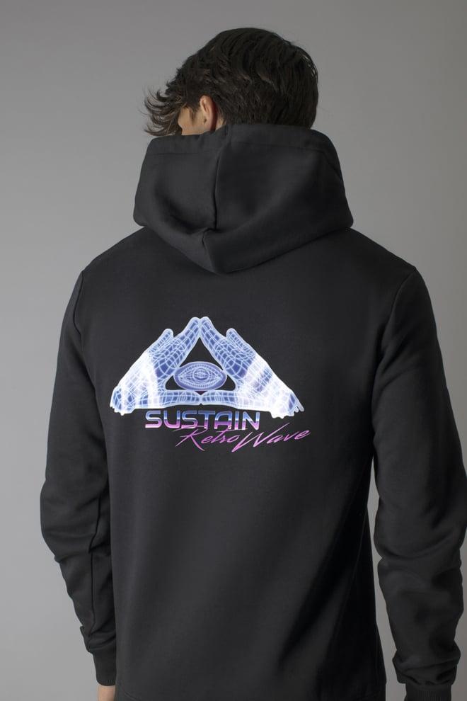 Sustain eye hoodie zwart - Sustain