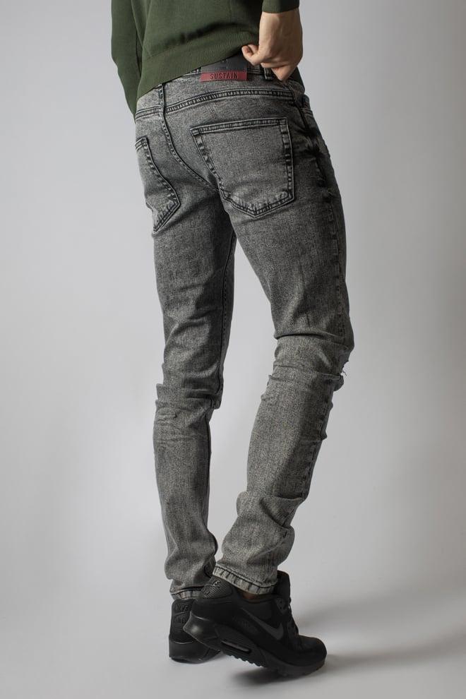 Sustain legacy jeans acid wash grey - Sustain
