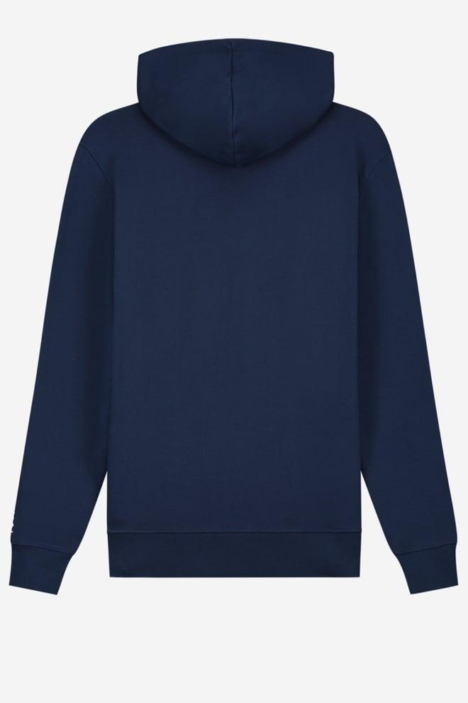 Sustain logo anorak hoodie blauw - Sustain
