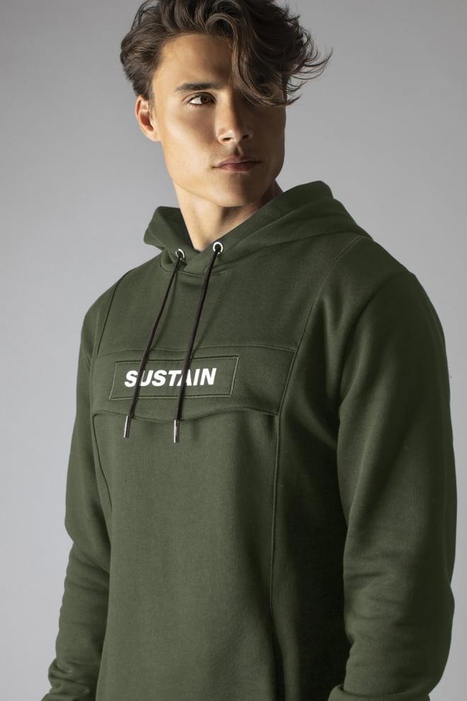 Sustain logo anorak hoodie groen - Sustain