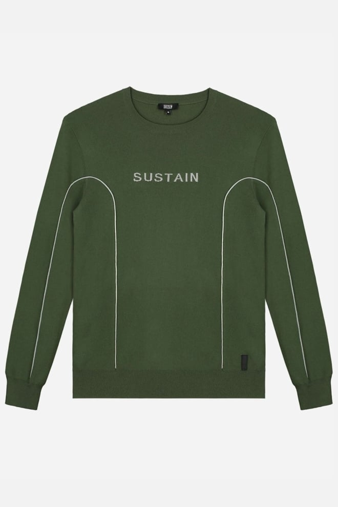 Sustain reflective crewneck trui groen - Sustain