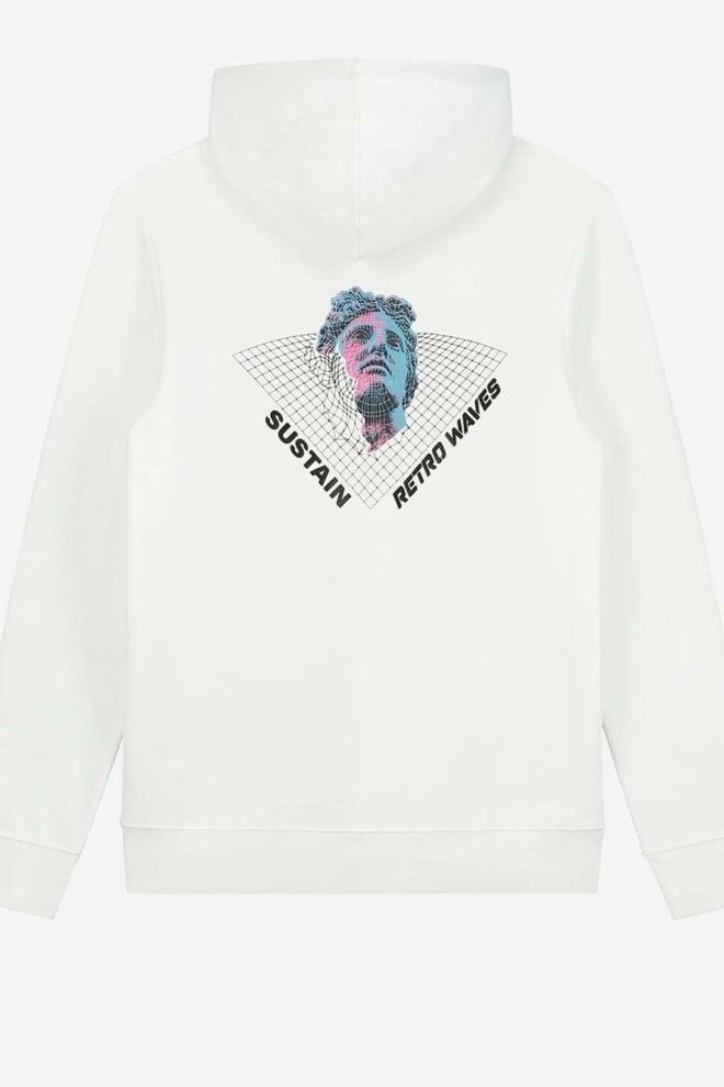 Sustain retro waves hoodie wit - Sustain